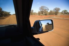 Vehicle on dirt road Stock Images