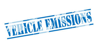 Vehicle emissions blue stamp Royalty Free Stock Photography