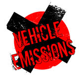Vehicle Emissions rubber stamp Stock Photos