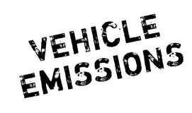 Vehicle Emissions rubber stamp Stock Photo