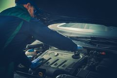 Car Fluids Maintenance Royalty Free Stock Images