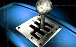 Vehicle gear lever movement Royalty Free Stock Images