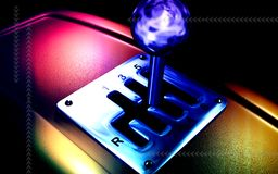 Vehicle gear lever movement Royalty Free Stock Image