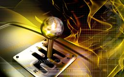 Vehicle gear lever movement Royalty Free Stock Photo