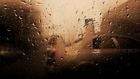 Vehicle Glass Window With Water Droplets Stock Photography