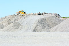 Vehicle on gravel hill Royalty Free Stock Image