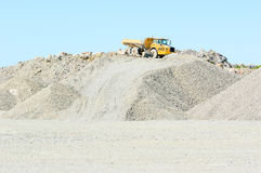 Vehicle on gravel hill Royalty Free Stock Images