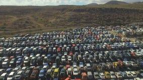 Vehicle Graveyards stock video
