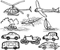 Vehicle. hand drawn illustrations. Stock Photo