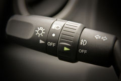 Vehicle headlight indicator Royalty Free Stock Images