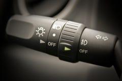 Vehicle headlight indicator Royalty Free Stock Images