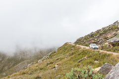 Vehicle on the historic Swartberg Pass Royalty Free Stock Image