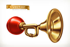 Vehicle horn. vector icon Royalty Free Stock Image