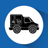 Vehicle icon design. Illustration eps10 graphic Royalty Free Stock Photo