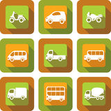 Vehicle icon design set Stock Photo