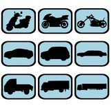 Vehicle icon set Royalty Free Stock Images