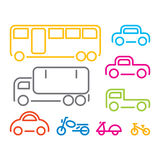 Vehicle icon set, vector Stock Image