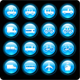 Vehicle icons Stock Photography