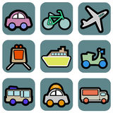 Vehicle icons Stock Images