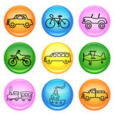 Vehicle icons Stock Photo