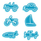 Vehicle icons. Vector set of vehicle icons Royalty Free Stock Photo