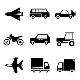 Vehicle icons Royalty Free Stock Photos