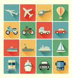 Vehicle icons set Royalty Free Stock Photography