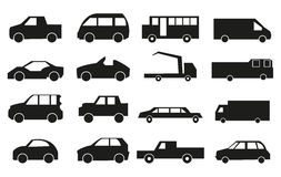 Vehicle Icons Set Stock Images