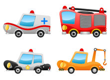 Vehicle illustrations vector. Four different vehicle illustrations vector Royalty Free Stock Photography