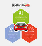 Vehicle infographic Stock Photography