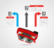 Vehicle infographic Royalty Free Stock Photo
