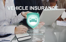Vehicle Insurance Accident Damage Protection Concept Stock Photo