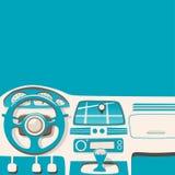 Vehicle interior. Inside car. Vector cartoon illustration Stock Image