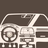 Vehicle interior. Inside car. Vector cartoon illustration Stock Photography