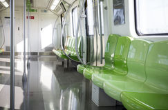 Vehicle interior. Line 14,a new subway line opened in China Stock Photos