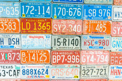 Vehicle licence plates Royalty Free Stock Photos