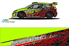 Vehicle livery graphic . abstract grunge background design for vehicle vinyl wrap and car branding vector illustration