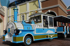 Vehicle with old train style royalty free stock photo