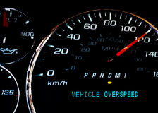 Vehicle over speed warning light Royalty Free Stock Photography
