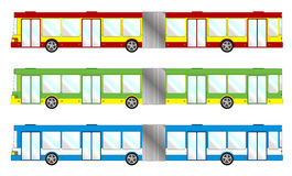 Vehicle pack - long bus Stock Image