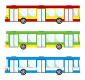 Vehicle pack - short bus. Vehicle pack different color - short bus Stock Photo
