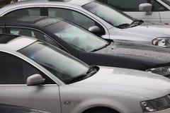 Vehicle parking lot stock image