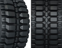 Vehicle perspective detail tires Stock Photography