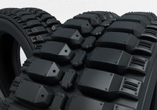 Vehicle perspective detail tires Royalty Free Stock Images
