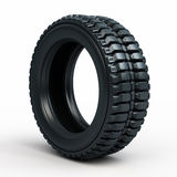 Vehicle perspective tire Stock Photography