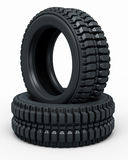 Vehicle perspective tire Stock Image