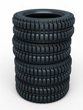Vehicle perspective tires Stock Photos