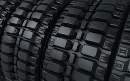 Vehicle perspective tires. 3d render Vehicle perspective tires (close-up Royalty Free Stock Photography