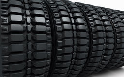 Vehicle perspective tires Royalty Free Stock Image