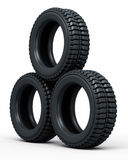 Vehicle perspective tires Stock Image